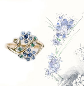 stella_ring_double_flower_sapphire_blue_drawing